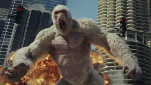 Dwayne Johnson versus megamonsters in nieuwe trailer Rampage
