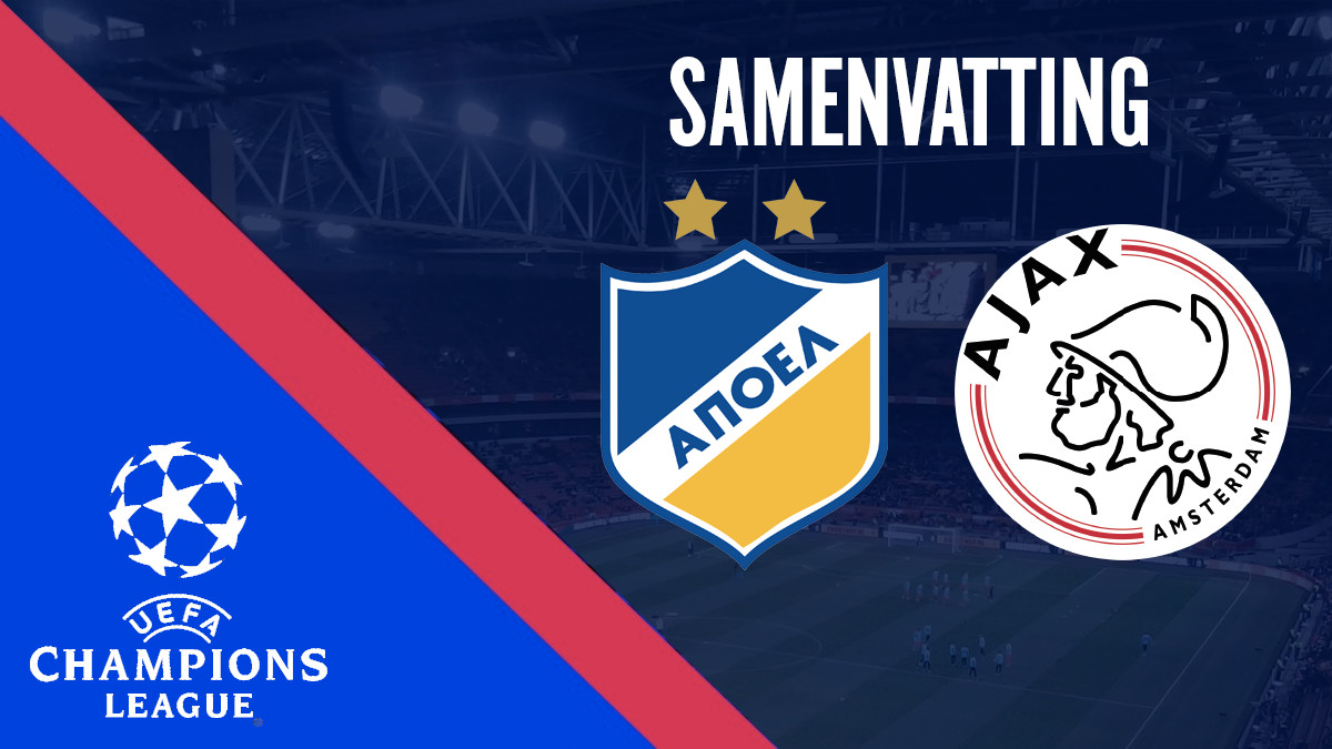 Samenvatting APOEL - Ajax (play-offs Champions League)