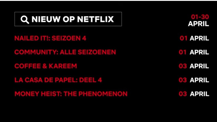 Netflix in april: La Casa de Papel 4 en After Life seizoen 2